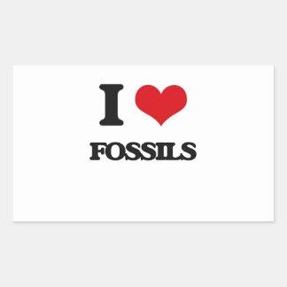 i LOVE fOSSILS Rectangular Sticker