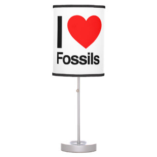 i love fossils table lamp