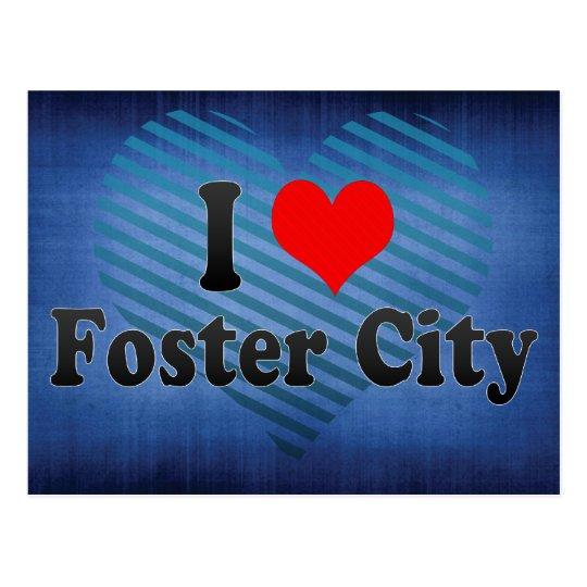 I Love Foster City, United States Postcard
