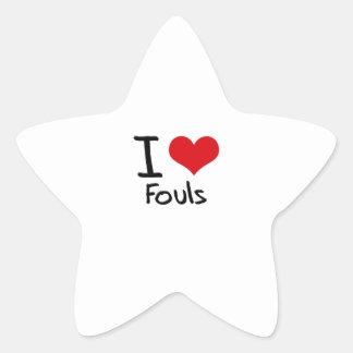 I Love Fouls Star Sticker