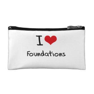 I Love Foundations Cosmetics Bags