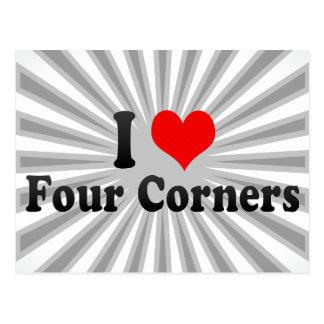 I Love Four Corners, United States Postcard