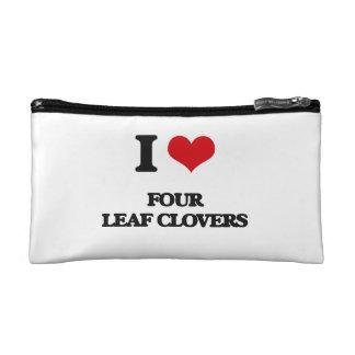 i LOVE fOUR lEAF cLOVERS Makeup Bags