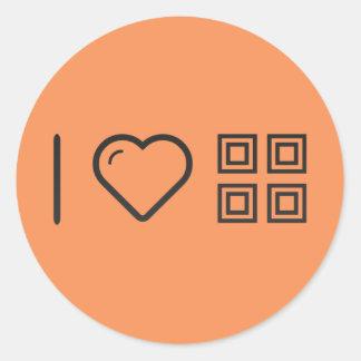 I Love Four Squares Classic Round Sticker
