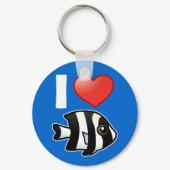 I Love Four Stripe Damselfish