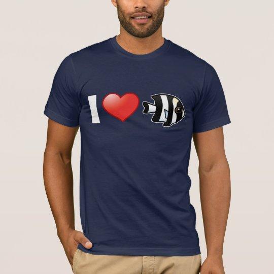 I Love Four Stripe Damselfish T-Shirt