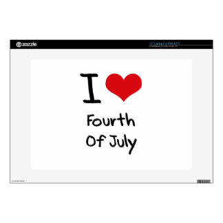 I Love Fourth Of July Skin For Laptop