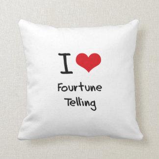 I Love Fourtune Telling Throw Pillow