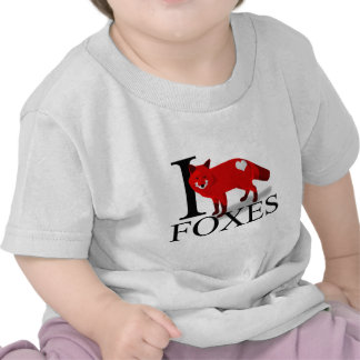 I Love Foxes Baby's Shirt