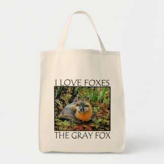 I LOVE FOXES CANVAS BAG