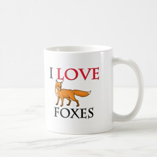 I Love Foxes Classic White Coffee Mug