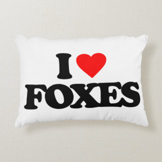 I LOVE FOXES DECORATIVE PILLOW