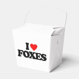 I LOVE FOXES FAVOR BOX