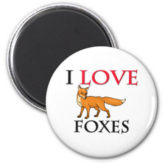 I Love Foxes Magnet