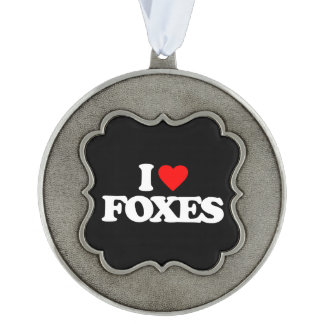 I LOVE FOXES ORNAMENT