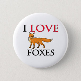 I Love Foxes Pinback Button