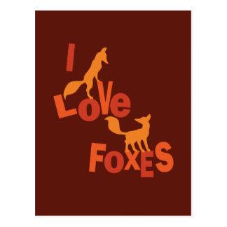 I Love Foxes Postcard