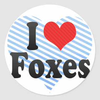 I Love Foxes Stickers
