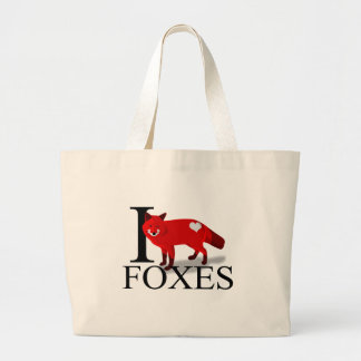 I Love Foxes Tote Bags