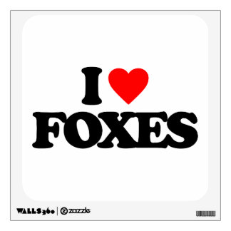 I LOVE FOXES WALL DECAL