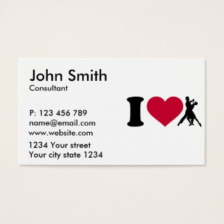 I love foxtrot dancing business card