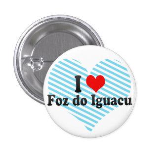 I Love Foz do Iguacu, Brazil Button