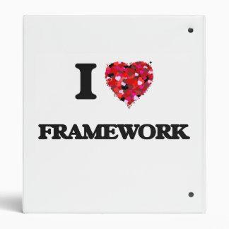 I Love Framework Vinyl Binder