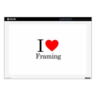 I Love Framing Laptop Decal