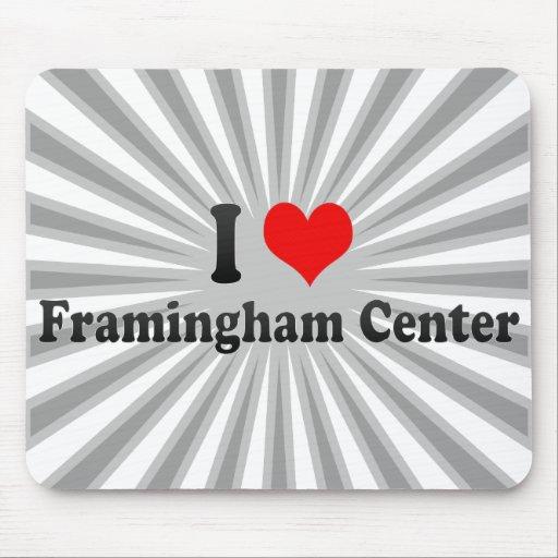 I Love Framingham Center, United States Mouse Pad