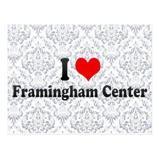 I Love Framingham Center, United States Postcard