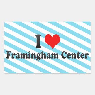 I Love Framingham Center, United States Rectangular Sticker