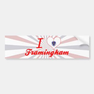 I Love Framingham, Massachusetts Car Bumper Sticker
