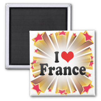 I Love France 2 Inch Square Magnet