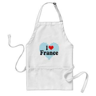 I Love France Adult Apron