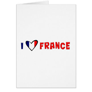 I Love France Card