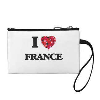 I Love France Coin Wallets