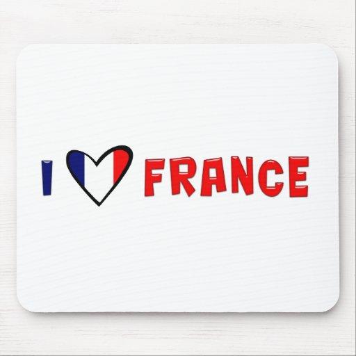 I Love France Mouse Pad