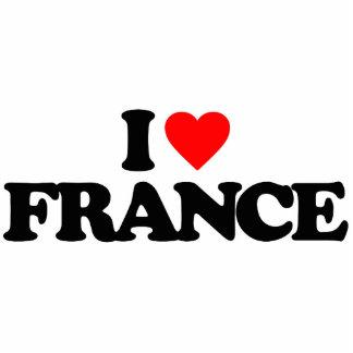 I LOVE FRANCE ACRYLIC CUT OUTS