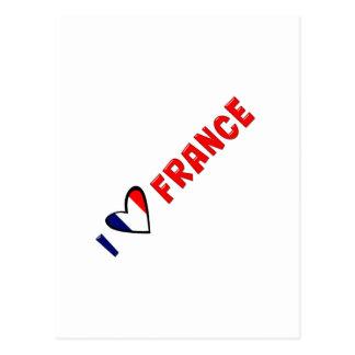 I Love France Postcard