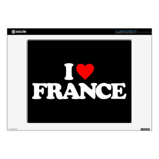 I LOVE FRANCE LAPTOP DECALS