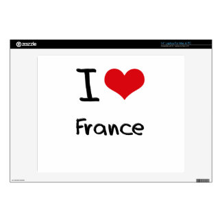I Love France Laptop Decal