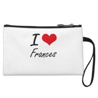 I Love Frances artistic design Wristlet Purse