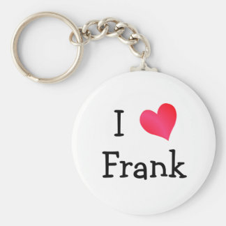 I Love Frank Basic Round Button Keychain