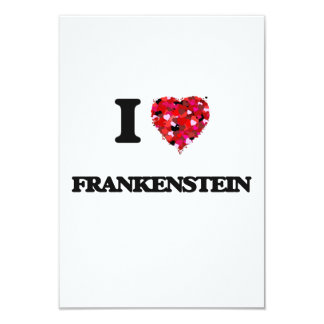 I love Frankenstein 3.5x5 Paper Invitation Card