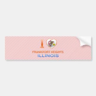 I Love Frankfort Heights, IL Car Bumper Sticker
