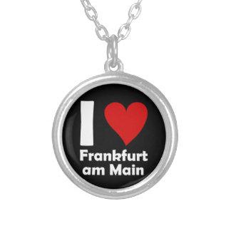 I love Frankfurt Main Round Pendant Necklace