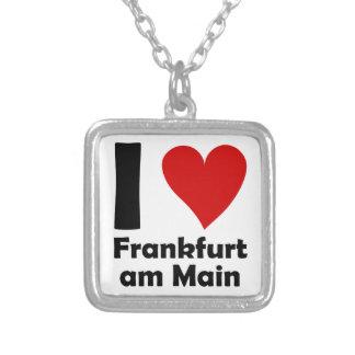 I love Frankfurt Main Square Pendant Necklace