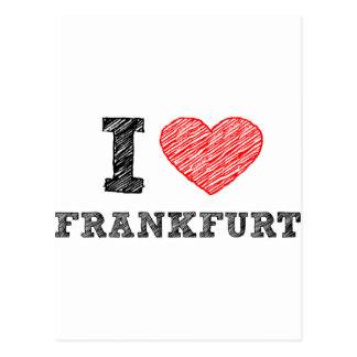 I love Frankfurt Postcard