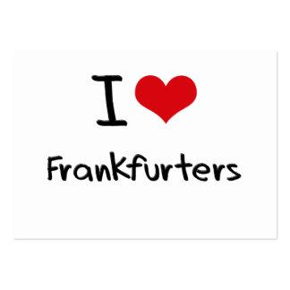 I Love Frankfurters Business Card Template