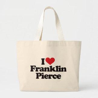 I Love Franklin Pierce Large Tote Bag